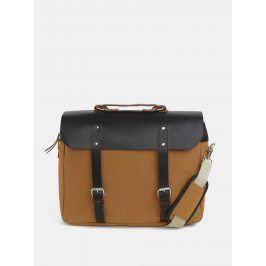 Hořčicový batoh/taška s koženými detaily Enter Brief 12 l