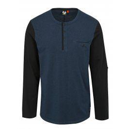 Tmavě modré pánské tričko s dlouhým rukávem Ragwear Tibor
