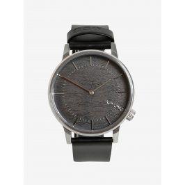 Pánské hodinky ve stříbrné barvě s koženým páskem Komono Winston