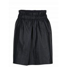 Černá koženková sukně s kapsami ONLY Tinka