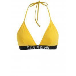 Žlutý horní díl plavek Calvin Klein