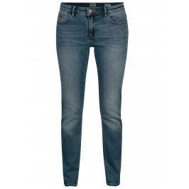 Modré slim džíny s vyšisovaným efektem ONLY Demi