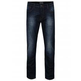 Tmavě modré slim fit džíny s vyšisovaným efektem ONLY & SONS Weft