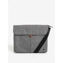 Šedá žíhaná nepromokavá taška na notebook 13