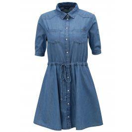 Modré džínové košilové šaty Pepe Jeans Marta