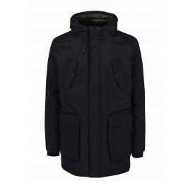 Černá zimní parka s kapucí Burton Menswear London