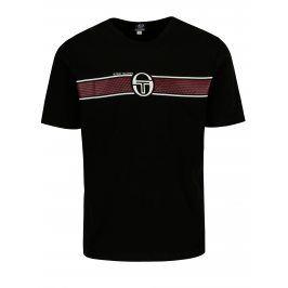 Černé pánské tričko s potiskem Sergio Tacchini Laufen
