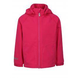 Růžová holčičí softshellová voděodolná bunda s kapucí Reima Vantti