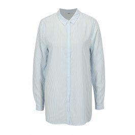 Bílo-modrá pruhovaná oversize košile ONLY Glory