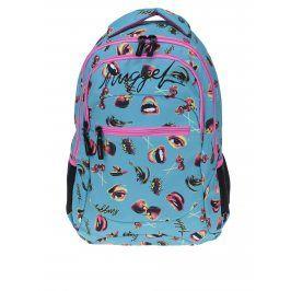 Růžovo-tyrkysový dámský batoh s potiskem NUGGET Scrambler 26 l
