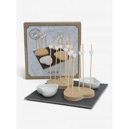 Set misek, tácků s párátky a prkénka SIFCON