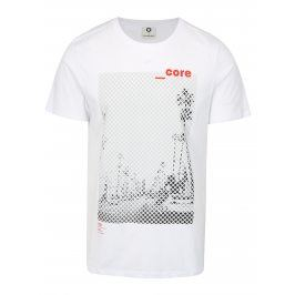 Bílé tričko s potiskem Jack & Jones Burg