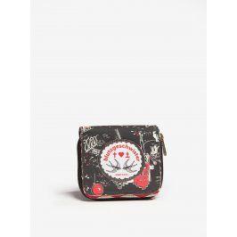 Černá vzorovaná peněženka Blutsgeschwister
