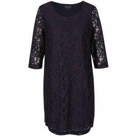 Tmavě modré krajkové šaty s 3/4 rukávem Broadway Maude