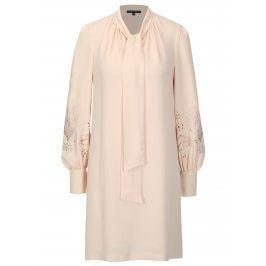Růžové šaty s dlouhým rukávem French Connection Arimi