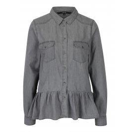 Šedá džínová košile s volánem VERO MODA Vera