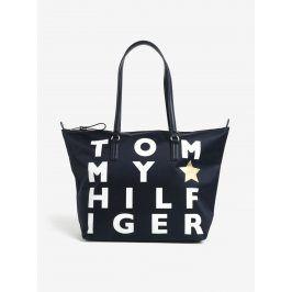 Tmavě modrá dámská kabelka s potiskem Tommy Hilfiger