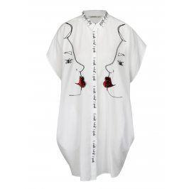 Bílé košilové šaty Desigual Rajkot India