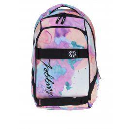 Růžový dámský vzorovaný batoh NUGGET Bradley 24 l