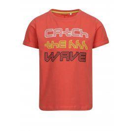 Červené klučičí tričko s potiskem name it Vux