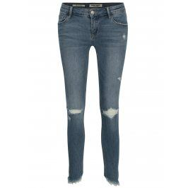 Modré zkrácené skinny džíny s nízkým pasem TALLY WEiJL