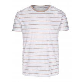 Bílé pruhované tričko Selected Homme Max