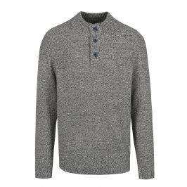 Modrý žíhaný svetr s knoflíky Jack & Jones Hay