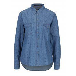 Modrá dámská džínová puntíkovaná košile Pepe Jeans Monique