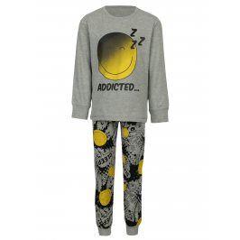 Šedé klučičí pyžamo s potiskem name it Happy