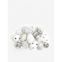 Sada plastových závěsných vajíček v krémové barvě Kaemingk