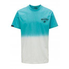 Bílo-modré pánské tričko MEATFLY Spill