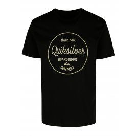 Černé pánské regular fit tričko s potiskem Quiksilver