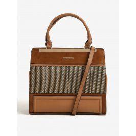 Hnědá vzorovaná kabelka do ruky Bessie London