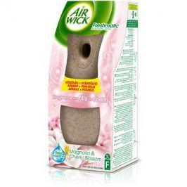 Air Wick Essential Oils Magnolia & Cherry Blossom automatický osvěžovač vzduchu 250 ml s náplní