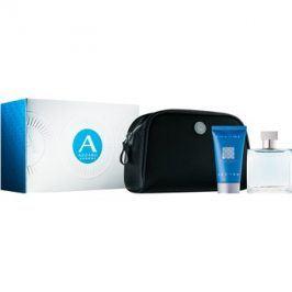 Azzaro Chrome dárková sada VII. toaletní voda 50 ml + sprchový gel 50 ml + kosmetická taška