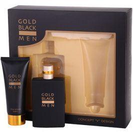 Concept V Gold Black dárková sada I. toaletní voda 100 ml + balzám po holení 100 ml