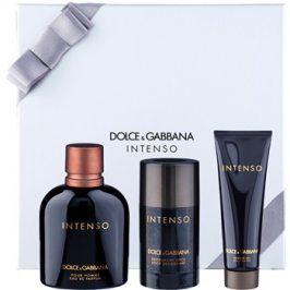 Dolce & Gabbana Pour Homme Intenso dárková sada III. parfémovaná voda 125 ml + tuhý deodorant 75 ml + sprchový gel 50 ml