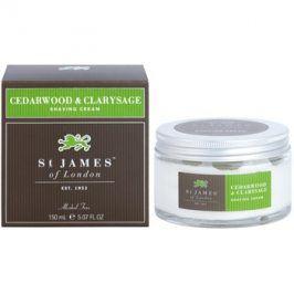 St. James Of London Cedarwood & Clarysage krém na holení pro muže 150 ml