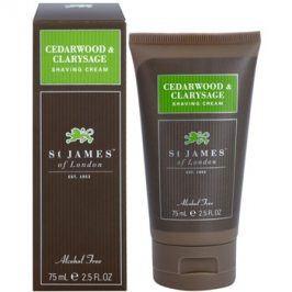 St. James Of London Cedarwood & Clarysage krém na holení pro muže 75 ml