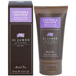 St. James Of London Lavender & Geranium krém na holení pro muže 75 g cestovní balení