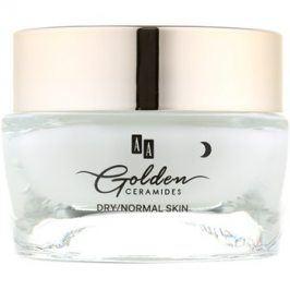 AA Cosmetics Golden Ceramides intenzivní noční krém s regeneračním účinkem  50 ml