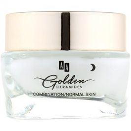 AA Cosmetics Golden Ceramides intenzivní vyhlazující noční krém  50 ml