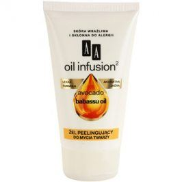 AA Cosmetics Oil Infusion2 Avocado Babassu čisticí peelingový gel  150 ml