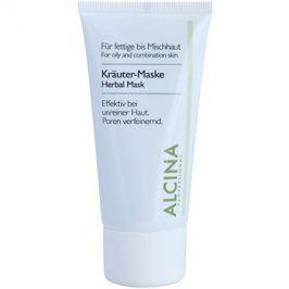 Alcina For Oily Skin bylinná maska proti lesknutí pleti a rozšířeným pórům  50 ml