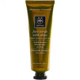 Apivita Express Beauty Olive hloubkově čisticí peeling na obličej  50 ml