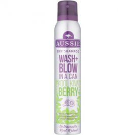 Aussie Wash+ Blow Kool Kiwi Berry suchý šampon  180 ml