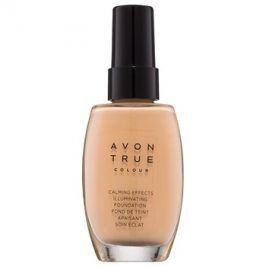 Avon True Colour zklidňující make-up pro rozjasnění pleti odstín Nude 30 ml