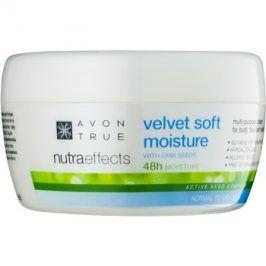 Avon True NutraEffects zjemňující hydratační krém na obličej a tělo  200 ml