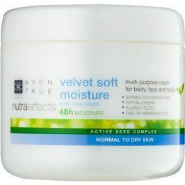 Avon True NutraEffects zjemňující hydratační krém na obličej a tělo  400 ml