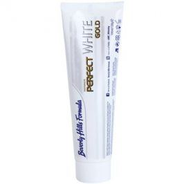 Beverly Hills Formula Perfect White Gold antibakteriální bělicí zubní pasta s částečkami zlata příchuť Double Mint 100 ml